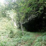 出羽と越後を結ぶ道の難所…片洞門