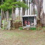 小さな祠があった七戸城の出城跡、矢館跡